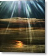 Over Rivers Of Gold Metal Print