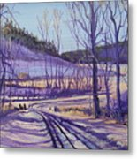 Over The Bridge And Through The Woods Metal Print