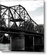 Over The Bridge And Thru The Woods Metal Print