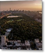 Over The City Central Park Metal Print