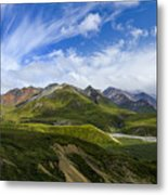 Over The Glaciers Metal Print