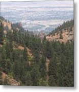Over The Mountain Side Metal Print