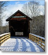 Over The River And Through The Bridge Metal Print
