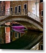 Over The River And Through The Buildings Metal Print