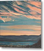 Over The River Metal Print