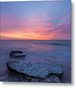 Over The Rocks Metal Print