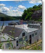 Over The Rooftops At Portree Metal Print