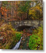 Over The Stream Metal Print