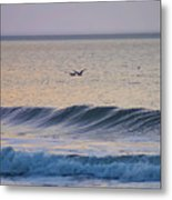 Over The Waves Metal Print