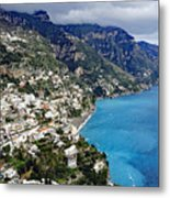Overall View Of Part Of The Amalfi Coast In Italy Metal Print