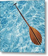 Overhead View Of Paddle Metal Print