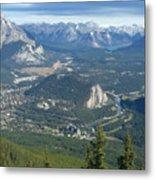 Overlook Banff Vista Metal Print