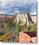 Overlook In Zion National Park Upper Plateau Metal Print