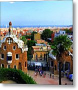 Overlooking Barcelona From Park Guell Metal Print