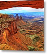Overlooking Canyonlands National Park    Moab Utah Metal Print