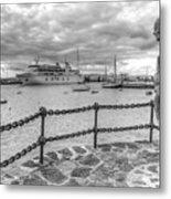 Overlooking Playa Blanca Harbour Metal Print