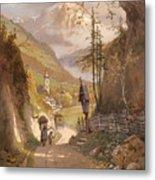 Overlooking Ramsau Bei Berchtesgaden Metal Print