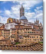 Overlooking Siena And The Duomo Metal Print