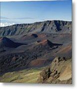 Overview Of Haleakala Cra Metal Print
