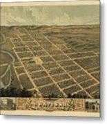 Owatonna, Minnesota 1870 Metal Print