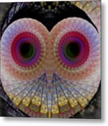 Owl Abstract Metal Print