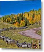 Owl Creek Pass Road Metal Print