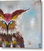 Owl Metal Print by Holly Donohoe