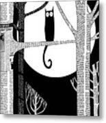 Owl Impression Metal Print