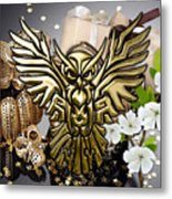 Owl In Flight Collection Metal Print