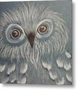 Owl In The Blue Metal Print by Ginny Youngblood
