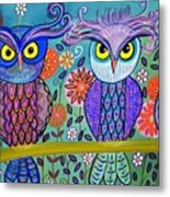 Owl In The Family Metal Print