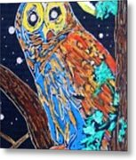 Owl Light Metal Print