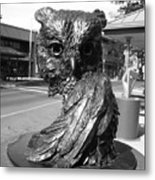 Owl Sculpture Grand Junction Co Metal Print