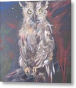 Owl Watchers Metal Print