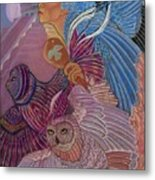 Owl Woman At Chichen Itza Metal Print