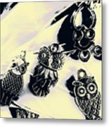 Owls From Blue Yonder Metal Print