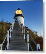 Owls Head Lighthouse Metal Print by John Greim