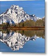 Oxbow Snake River Reflections Metal Print