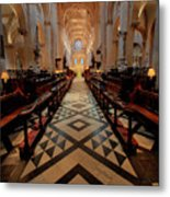 Oxford Cathedral Nave Metal Print