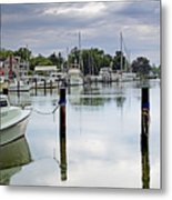 Oxford City Dock Eastern Shore Of Maryland Metal Print by Brendan Reals