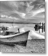 Oyster Boat Ap3392 Metal Print