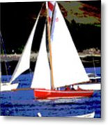 Oyster Boats Metal Print