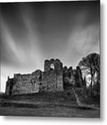 Oystermouth Casle At Mumbles Metal Print