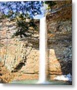 Ozone Falls Focus Metal Print