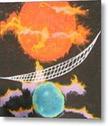 Ozone Net Metal Print