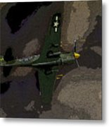 P 40 Warhawk In Action Metal Print