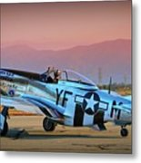 P-51d Mustang 'dakota Kid II. The Long Island Kid' And Casey Odegaard Metal Print
