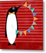 P Is For Penguin Metal Print