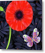P Is For Pretty Poppy Metal Print