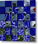 P Patch Poppies Metal Print